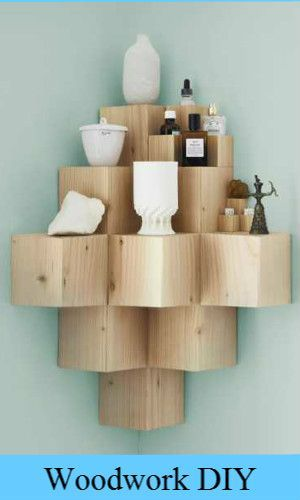 This floating shelf is clever.