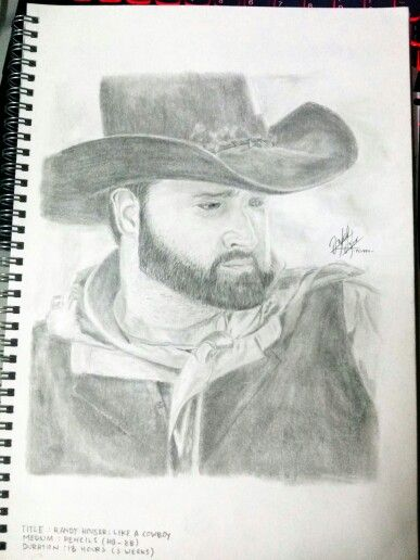 Title: Randy Houser: Like A Cowboy Medium: Pencil on paper Duration: 13 hours (3 weeks)