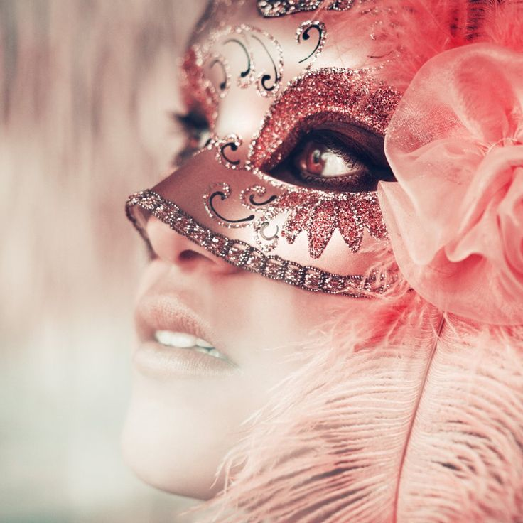 Pink mask- how cool! I love the idea of a masquerade. :)