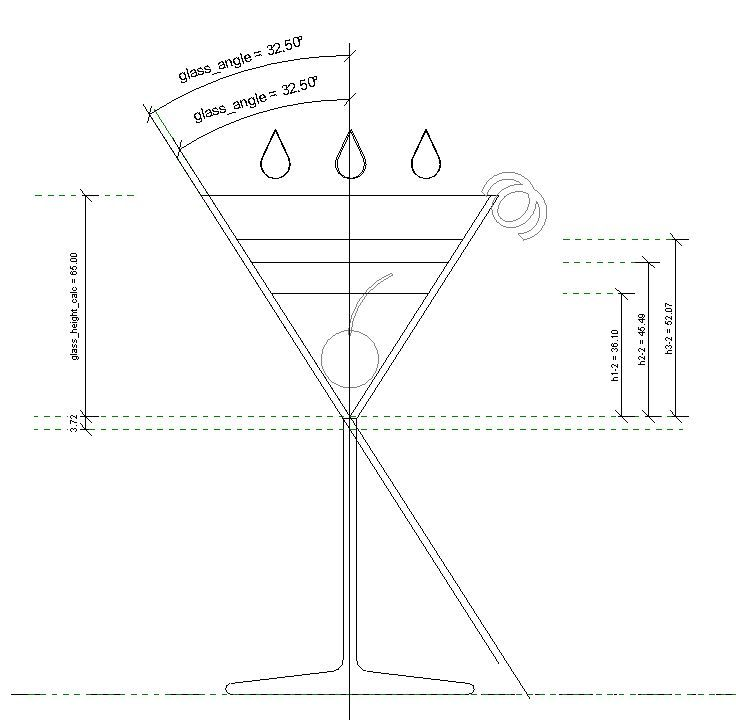Image Result For Martini Glass Drawing And Dimensions Martini