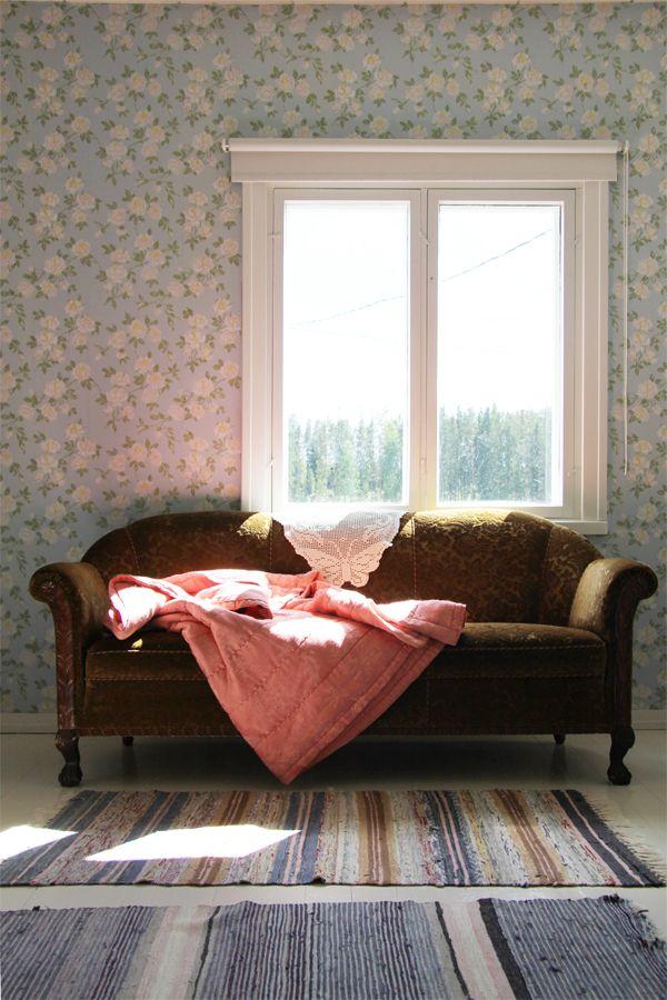 Living room - Wallpaper - Vihrea Talo via Bambula