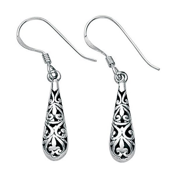 Filigree Drop Earrings from the Earrings collection at Argenteus Jewellery