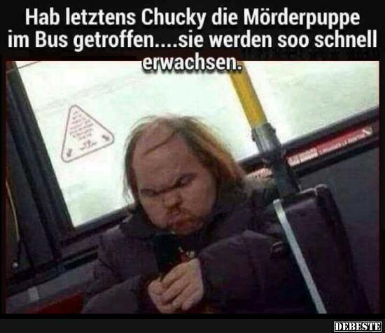 Hab letztens Chucky die Mörderpuppe im Bus getroffen.. | Lustige Bilder, Sprüche, Witze, echt lustig