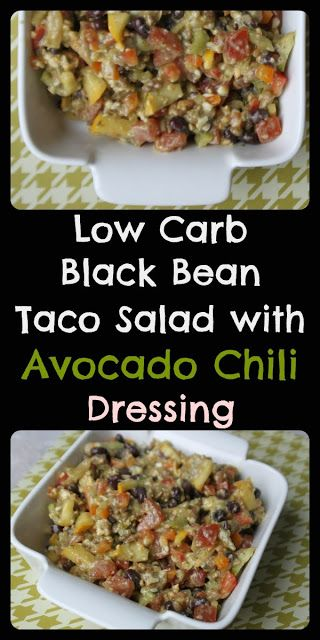 Taco Explosion - Low-Carb Corn Free Black Bean Taco Salad with Avocado ...