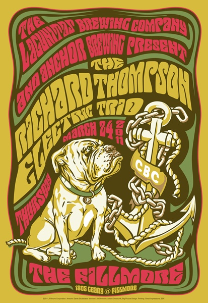 Richard Thompson Electric Trio - Fillmore SF 2011 - by Derek Johnson
