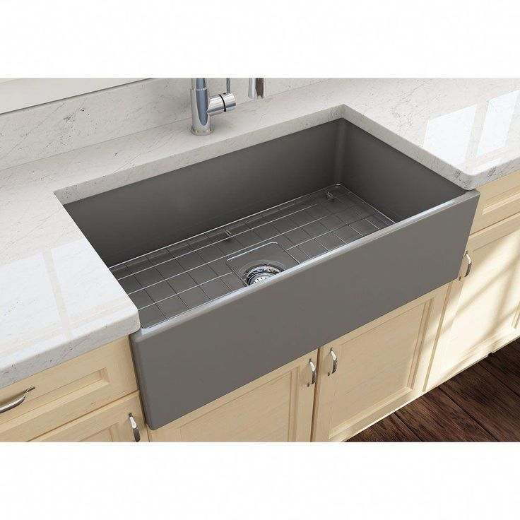 Contempo 33 in apron front fireclay single bowl kitchen