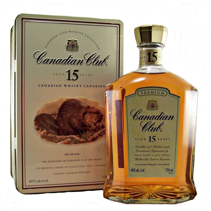 Canadian Club 15 year old Whisky Wildlife Collection Beaver available to buy online at specialist whisky shop whiskys.co.uk Stamford Bridge York