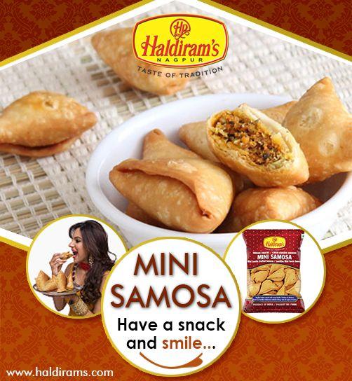 crunchy & Tasty Mini Samosha. For More Details : http://www.haldirams.com/namkeen/mini-samosa.html