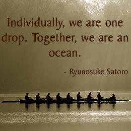 [synergy = synch + energy] Quote by Ryunosuke Satoro
