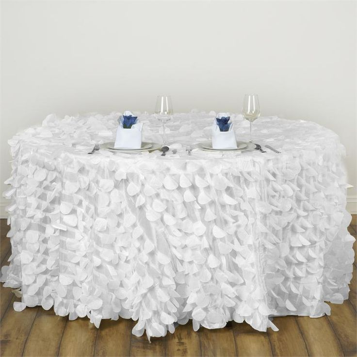 1000 ideas about round tablecloth on pinterest wooden for 120 round white table linens