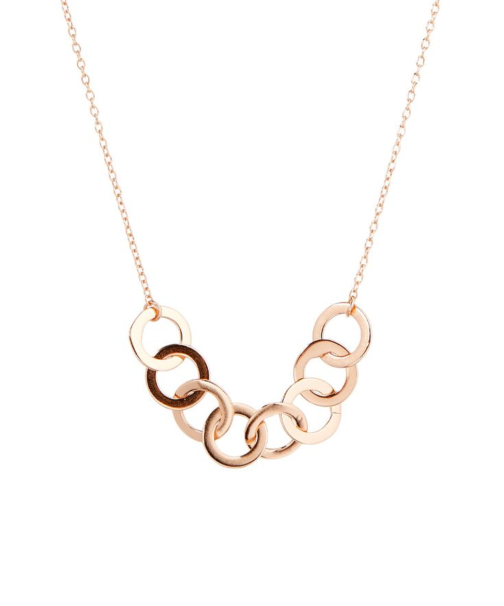 Rose Gold Vermeil Interlocking Circles Necklace