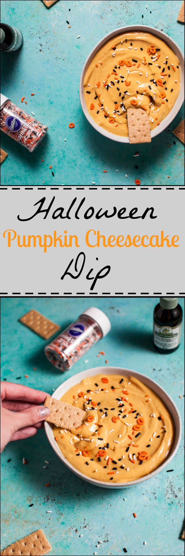 This sweet dessert dip is perfect for your Halloween party! Kids and adults alike will love it. Ready in 5 minutes!
