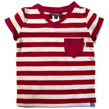 RYB Zeppelin Stripe Tee Red $30