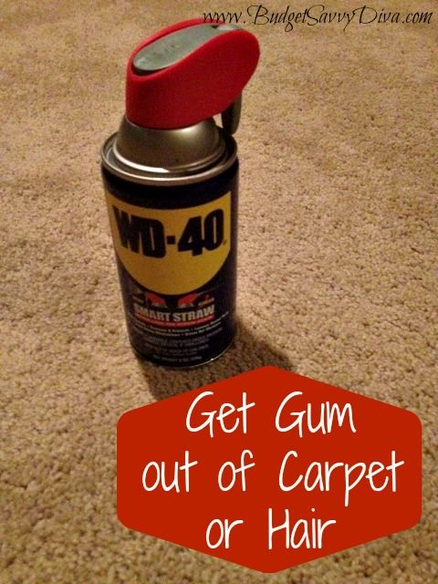 Gum out of carpet