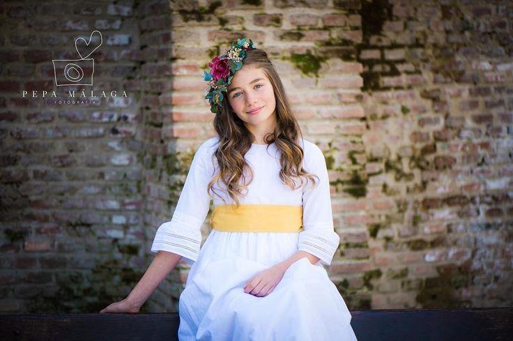Vestido ideal de Primera Comunión. Temporada primavera verano 2018. Para alquilar. BonmiKids