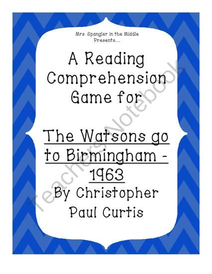 essay questions for the watsons go to birmingham The watsons go to birmingham-1963,  your essay should answer the questions what happened, why is it important, and what does the event reveal about the character(s.