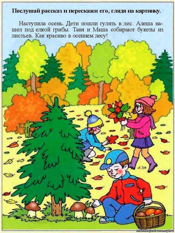 Рассказываем по картинкам осень