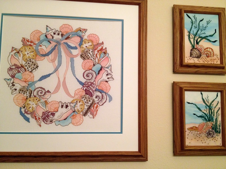Seashells Cross-Stitch Pictures.