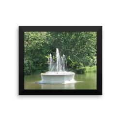 Framed photo paper poster: Parc La Fontain, Montreal