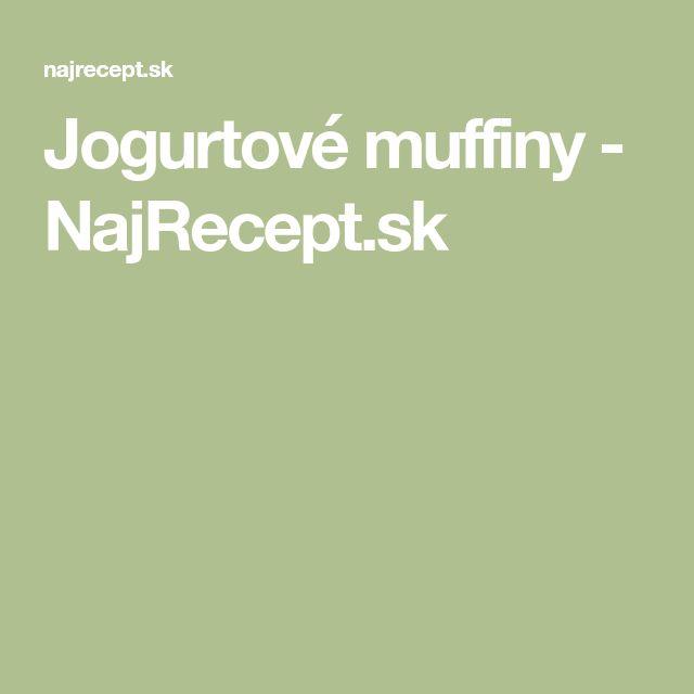 Jogurtové muffiny - NajRecept.sk