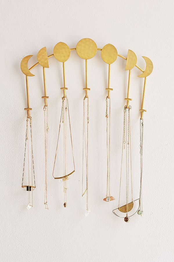 Slide View: 1: Magical Thinking Artemis Wall Mounted Necklace Holder