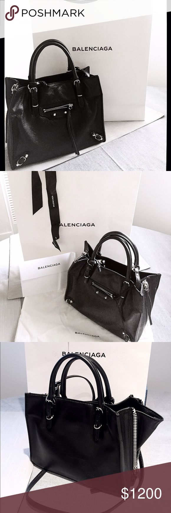 BALENCIAGA PAPIER A6 ZIP AROUND ❣️New version of zip around line and sides. ❣️Removable and adjustable shoulder strap. ❣️Material: soft calfskin made in Italy. ❣️ Balenciaga Bags Totes