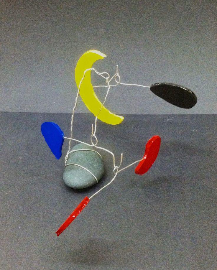 Wire Balance Sculptures with Calder Kids Art Market