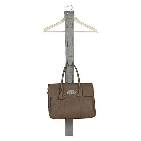 Buy John Lewis Grey Chambray Handbag Holder Online at johnlewis.com