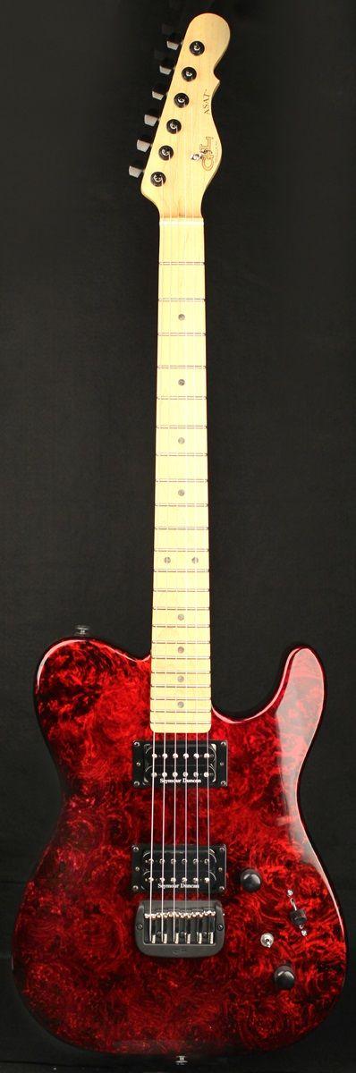 G&L Guitars ASAT® Deluxe, Alder body with Red Swirl finish