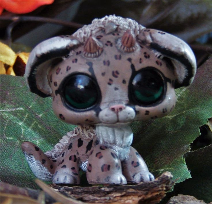 Littlest Pet Shop baby Leopard Dragon Forest Spirit OOAK custom figure LPS chibi #Hasbro