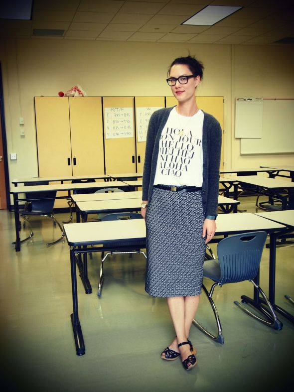 High school teachers teaching