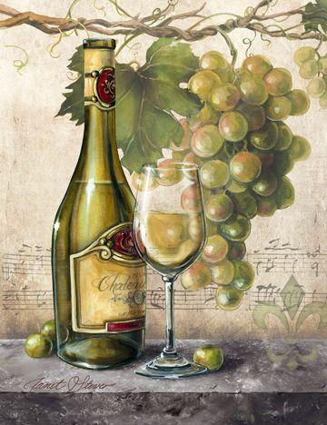 """""""Vin Blanc Elegant"""" by Janet Stever"""