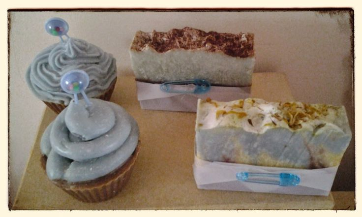 Baby Shower Soaps All Wrapped & Ready To Go, made these babies for my nieces baby shower.