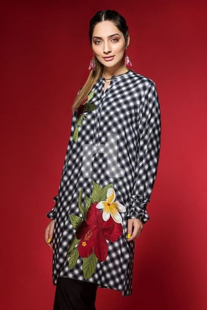 1086deecec Nishat Linen Annual Winter Sale 2018 Get your hand, ready to wear in winter  A wide range of elegant winter dresses are available for you wit.