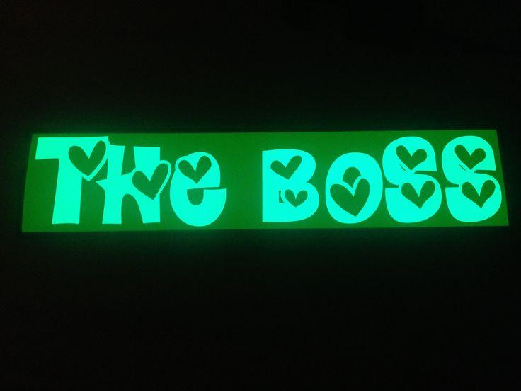 Plaque prénom camion The Boss