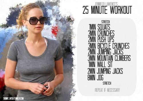 Jennifer Lawrence 25 min workout
