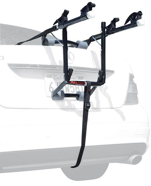 It is designed to strap onto the trunk of your car, but it will also fit hatchbacks, SUVs, and minivans. #bike #rack