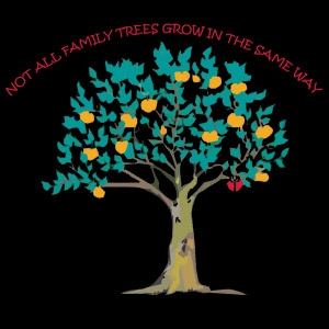 Not All Family Trees grow in the same Way.  Great Adoption Fundraising Tee.