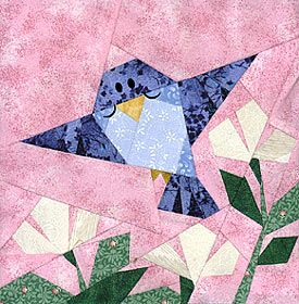 Bluebird Paper-Pieced Quilt Pattern at Paper Panache