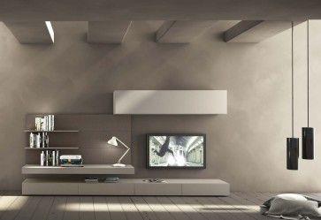 Composizione soggiorno serie I-modulART 277 | lartdevivre - arredamento online