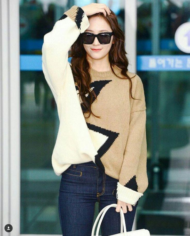 ( Fx ) 에프엑스 Krystal Jung # 크리스탈정 # ❤ Jung Soo Jung ❤ 정수정 ❤ : @ Incheon Airport To Italy Rome For Milan Fashion Week