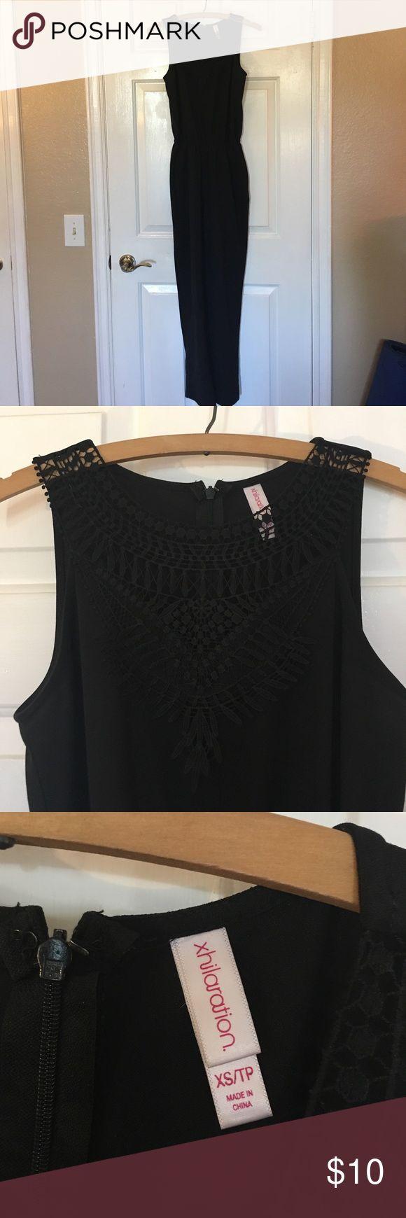 Xhilaration solid black lace jumpsuit size xs sexy Xhilaration solid black lace jumpsuit size xs sexy Xhilaration Pants Jumpsuits & Rompers