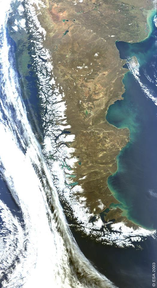 La Patagonia Argentina desde el espacio!