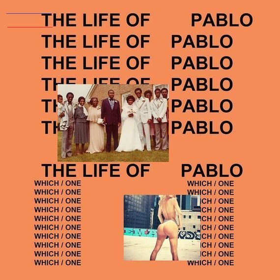 Kanye West The Life Of Pablo Poster Album Cover Music Art Etsy Albumart Due To The Epidemic Situati In 2020 Cool Album Covers Rap Album Covers Kanye West Albums