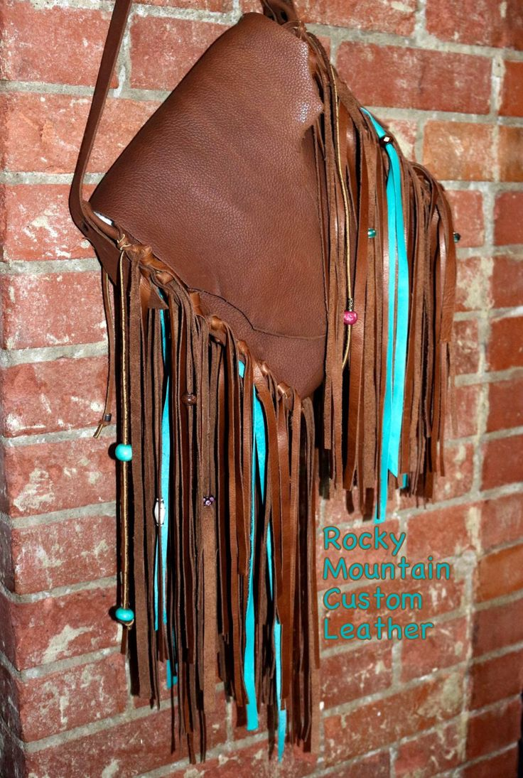 quality handmade adjustable western leather bag by RockyMtnCustomLeathr on Etsy