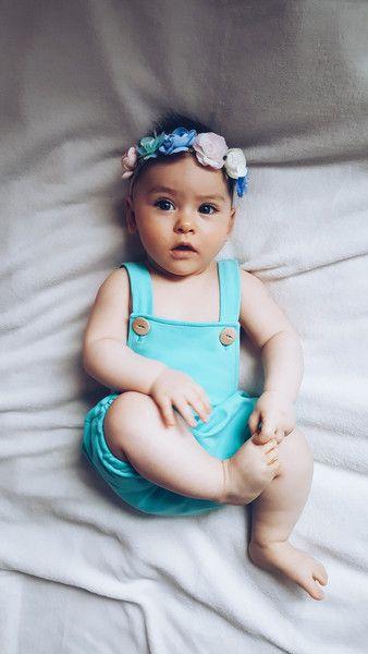 Ogrodniczki BLUE - HonsiuMisiu - Spodnie dla niemowląt