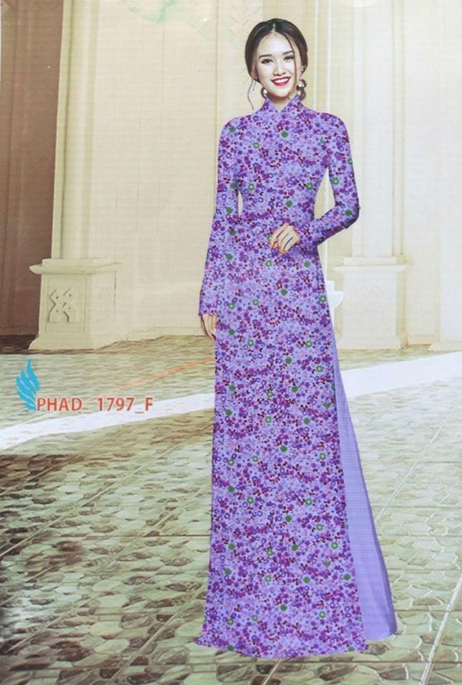 Small Fl Ao Dai Vietnam Taylor Made Chiffon Dress Thai Tuan Silk Pant Handmade Aodai Casual