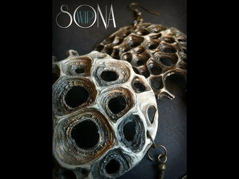 Polymer Clay Tutorial ''Coral Earrings'', Full WIP - YouTube