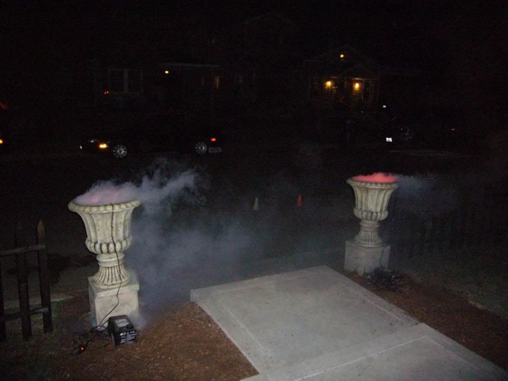 Urn Fog Chillers #halloween #decorations #yard #outdoors #haunted