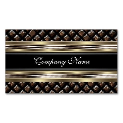 Elegant Brown Beige and Black Business Card